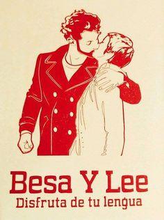 Besa y lee!!