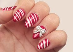 Candy Cane Nails, I gotta do these for Christmas this year!!