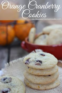 Orange Cranberry Cookies | Recipe on HoosierHomemade.com