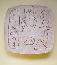 Use Your Coloured Pencils: Ancient Egyptian Style Carved Tablets