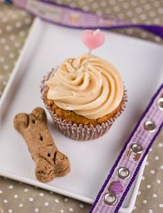 Treat your pup to Carrot Peanut Butter Cupcakes.