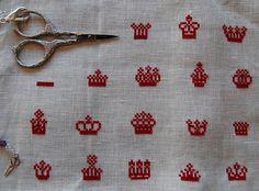 The Queen's Crowns (Plum Street Samplers) - in progress