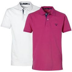 This short-sleeved polo top in a regular, relaxed fit is an essential wardrobe staple. Available in soft pique cotton top, it features a two-button placket with contrast-colour inner, and one-colour embroidered GANT shield logo on chest. Pair with cargo shorts or chinos.    http://www.gibbsmenswear.co.uk/Products/Brands/Gant