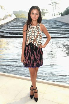 Selena Gomez is a prime example on why you should mix patterns.
