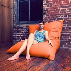Joseph Willet: Pillow Saxx Orange Twill, at 20% off! 175/fab. in case we want to go the beanbag chair route