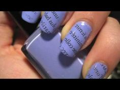 Nail Art TUTORIAL 31 • Carta di Giornale!!