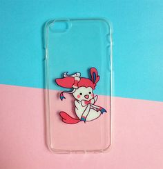 Hand painted Sylveon phone case - iPhone 6 case clear- iPhone 6 case - iPhone 6s case - Pokemon Phone Case - Samsung Galaxy S7 Edge Case sold by Mint Corner. Shop more products from Mint Corner on Storenvy, the home of independent small businesses all over the world.