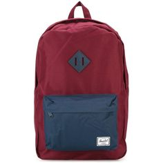 Herschel Supply Co. Heritage Backpack ($63) ❤ liked on Polyvore featuring bags, backpacks, red, rucksack bag, red bag, herschel supply co bag, zip top bag and backpacks bags