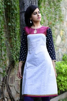 Searching for kurti designs? Take a look! Chudi Neck Designs, Salwar Neck Designs, Churidar Designs, Kurta Neck Design, Kurta Designs Women, Dress Neck Designs, Blouse Designs, Simple Kurti Designs, Salwar Pattern