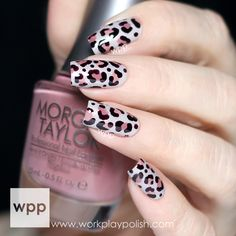Sophisticated Leopard Print Nail Art