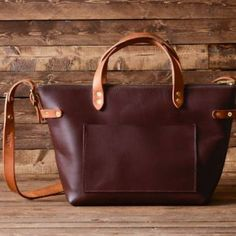Deluxe Tote - copper rivets and heavy leather. What's not to like?