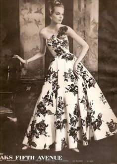 Vintage Fashion Ad Sophie dress from Saks Fifth Avenue 1958