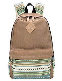 Ethnic Women Backpack for School Teenagers Girls Vintage Stylish ...