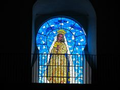IZAMAL CONVENT STAINED GLASS WINDOW - VIRGIN MARY