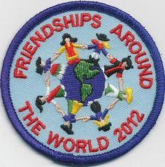 girl boy FRIENDSHIPS AROUND THE WORLD 2012 Patches Crests Badges SCOUTS/GUIDES Girl Scouts Usa, Girl Guides, Crests, Badges, Friendship, Patches, Around The Worlds, Kids Rugs, Activities