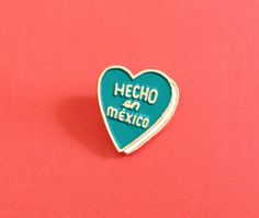 Heart Shaped Metal and Enamel Pin by rosiemusic on Etsy