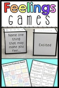 These 4 feelings games are perfect for teaching your students to identify and express feelings and emotions. Use them to increase engagement in your feelings and emotions lessons!