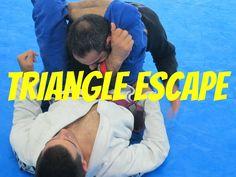 Brazilian Jiu Jitsu Triangle Escape Technique