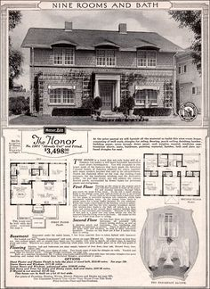 The Honor 1923... sleeping porch, extra bedeooms, pantry, & more