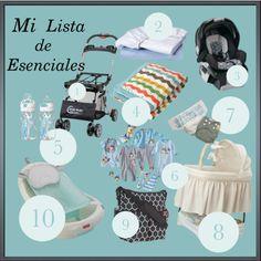 Lista de productos esenciales para bebes