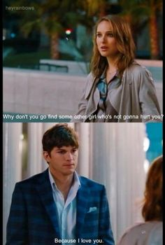 Natalie Portman & Ashton Kutcher in film No Strings Attached Love Movie, Movie Tv, Movie Scene, Movies Showing, Movies And Tv Shows, Favorite Movie Quotes, Movies Worth Watching, Tv Couples, Movie Lines
