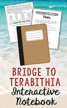 Bridge to Terabithia Interactive Notebook by Katherine Patterson. Low Prep and Stress-Free. This unit includes vocabulary terms, poetry, author biography research, themes, character traits, one-sentence chapter summaries, and note taking activities. A great variety of activities to keep your students engaged! This is a complete unit, but can be added to the materials you already have on hand. I use this INSTEAD of multiple choice comprehension tests and my students are super excited about…