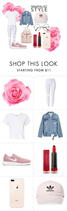 """""""Minimalist Pink"""" by maddy0428 on Polyvore featuring RE/DONE, Steve J & Yoni P, NIKE, Max Factor and adidas"""