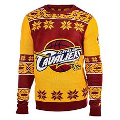 NBA Cleveland Cavaliers Big Logo Ugly Crew Neck Sweater 25320b439