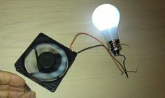 "Free Energy Magnet Motor fan used as Free Energy Generator ""Free Energy"" light bulb"