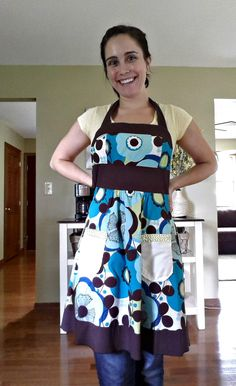 So clever, she turned a dress that no longer fit into an apron