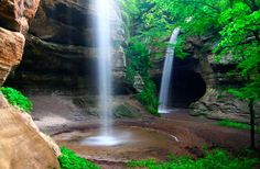 Starved Rock State Park. The park, which was once home to Native Americans, is a National Historic Landmark filled with canyons, waterfalls, and sandstone bluffs. 13 miles of hiking trails.