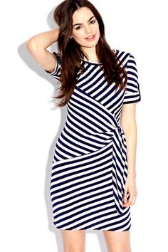 Beatrice Striped Jersey Wrap Dress