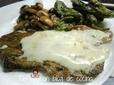 BISTEC CON SALSA DE QUESO DE CABRA