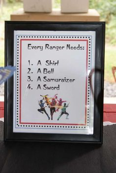 Power Rangers Birthday Party Ideas   Photo 1 of 31   Catch My Party