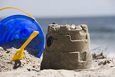 it a small sand castle its a bit rubbish though (no offence to the owner)