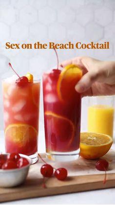 Fruity Alcohol Drinks, Drinks Alcohol Recipes, Cocktail Recipes, Cocktail Drinks, Alcohol Shots, Mix Drink Recipes, Orange Juice Alcoholic Drinks, Beach Alcoholic Drinks, Blended Alcoholic Drinks
