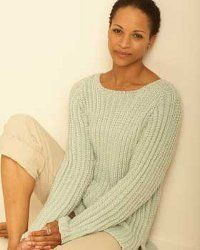 This knit top is great for anyone, anywhere, anytime. The casual sweater from Bernat Yarns has a textured stitch that drapes beautifully when you wear it.