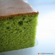 """http://www.comerjapones.com/matcha-kasutera-receta Bizcocho """"kasutera"""" de té verde."""