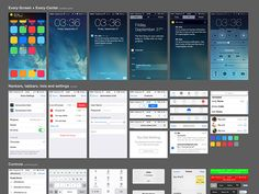 Here is a iOS7 UI kit including many useful screens. These free PSDs have been recreated and released by Oz Pinhas.