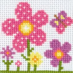 Cross Stitch Kits Create your first cross stitch design with the Maia Tapestry Kit Counted Cross Stitch Kit. This kit provides everything you need to work on your first sewing project. Beginners will find this star - Cross Stitch For Kids, Simple Cross Stitch, Cross Stitch Cards, Cross Stitch Borders, Counted Cross Stitch Kits, Cross Stitch Flowers, Cross Stitch Designs, Cross Stitching, Cross Stitch Embroidery