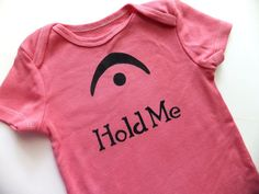 I'm a Fermata Hold Me Black on Dusty Rose Onesie