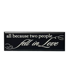 LOVE Decal sticker Wine Bottle Vinyl ALL BECAUSE TWO PEOPLE FELL IN LOVE