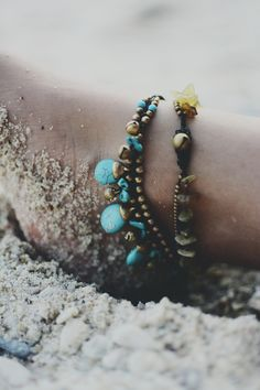 Love these anklets.   http://brightenproduction.com/
