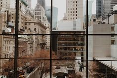 city view from windows at MOMA