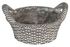 Ceramic Basket Planter. This would be adorable with johnny jumps or pansies!