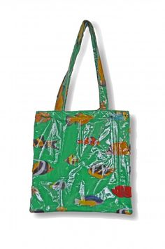 Fish bag- made from recycled shower curtain