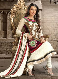 Perfect Off White Churidar Suit  http://www.palkhi.com/salwar-kameez/perfect-off-white-churidar-suit/