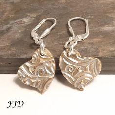 Sterling Silver and Bronze Heart Earrings by FelicityDesignsLLC