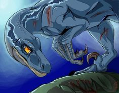 Blue's loss by WrathfulCreatures on DeviantArt Lego Jurassic World Game, Blue Jurassic World, Jurassic Movies, Jurassic World Fallen Kingdom, Dino Park, Dinosaur Tattoos, Beast Creature, Furry Comic, Falling Kingdoms