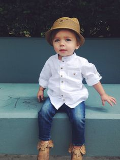Most Popular Baby Boy Summer Outfits Boys Toddler Fashion Baby Outfits, Outfits Niños, Boys Summer Outfits, Little Boy Outfits, Summer Boy, Toddler Boy Outfits, Outfits With Hats, Summer Fashion Outfits, Kids Outfits